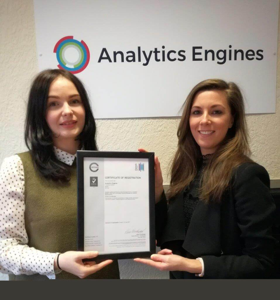 Announcing Analytics Engines ISO 27001 Certification featured image